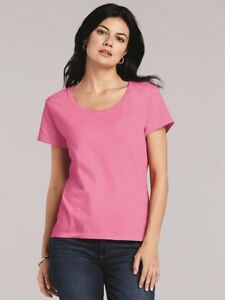 Gildan-Softstyle-Women-039-s-Deep-Scoopneck-T-Shirt-64550L