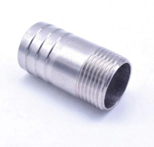 """Acero Inoxidable 47mm Manguera Cola 1-1//2/"""" BSPT MACHO recto conector de montaje de vacío"""