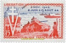 EBS France 1954 10th anniversary D-Day Allied Landing Normandy YT 983 MNH**