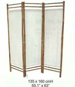 spanische wand raumteiler bambus paravent paravent sichtschutz ebay. Black Bedroom Furniture Sets. Home Design Ideas