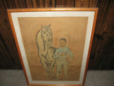 "Vintage Pablo Picasso ""Boy with Horse"" Circa 1950's Fine Lithograph"