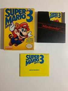 RARE-Super-Mario-Bros-3-Nintendo-NES-Complete-in-Box-Bros-on-the-left-Tested-A