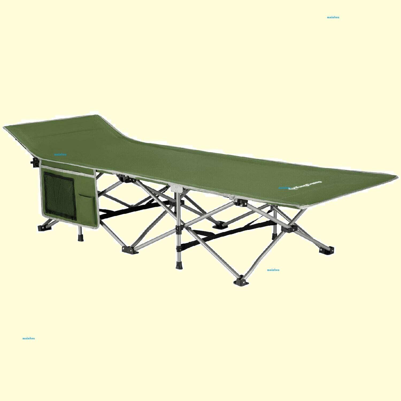 Campingbett Klappbett Feldbett mit Seitentasche bis 120 kg belastbar (12)