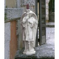 Italian Cathedral Guardian Angel Sculpture Right Facing Spiritual Statue