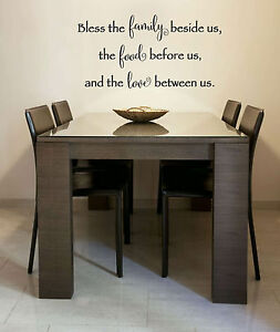 Bless the Food Family Love Amen Wall Decal Lettering Home Decor Kitchen Saying