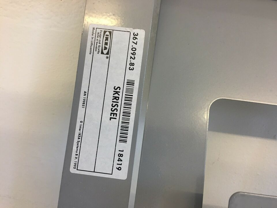 Anden reol, IKEA Skrissel