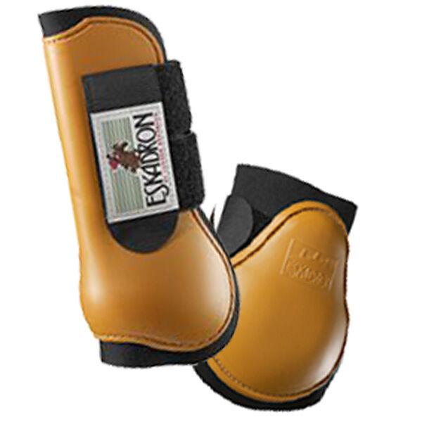 4er Set Eskadron  Protection Stiefel  Farbe cognac Gr. Pony
