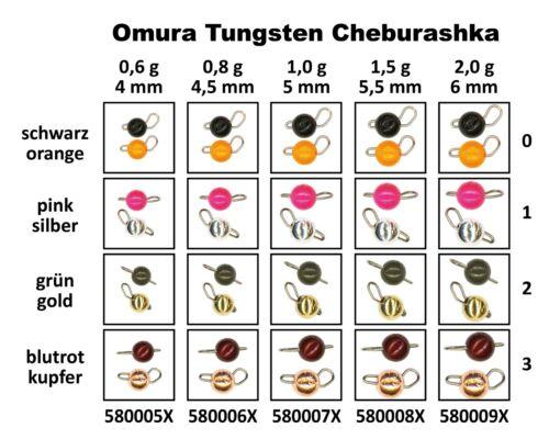 FTM Omura Tungsten Cheburashka 0,8g verschiedene Farben Fishing Tackle Max