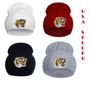 TIGER SUPREME Luxury Branded Winter Warm Hat-Cuffed Beanie -Unisex ... 28fa2106001