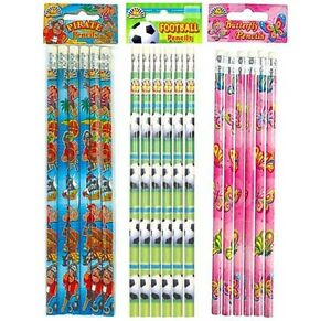 6-x-Pencils-Choose-Design-Pirate-Butterfly-Football-etc-Party-Bag-Fillers-Toys