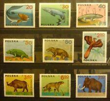 POLAND STAMPS MNH Fi1506-14 Sc1395-03 Mi1655-63 - Pets fossil - 1966, clean