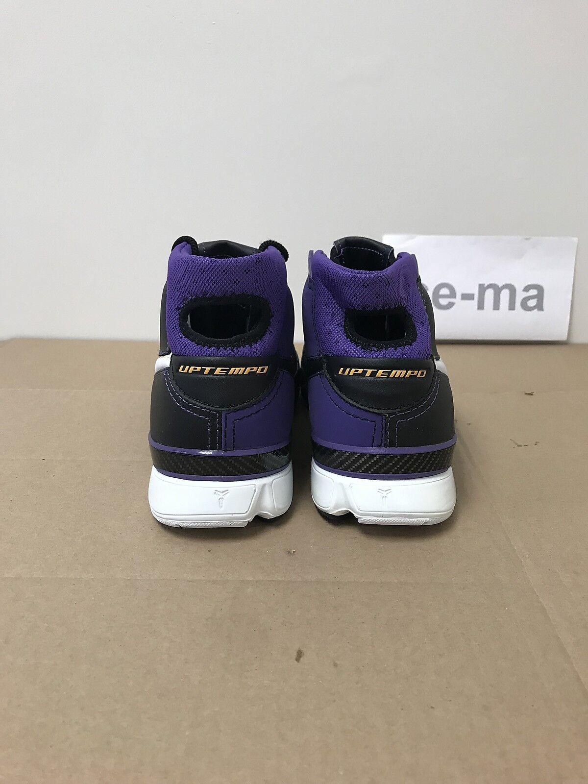 4a42a99dbe57 ... Nike Zoom Kobe 1 Black Purple gold gold gold Bryant Original 2006  Limited 313143-014 ...