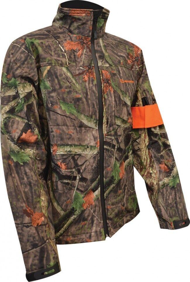 Árbol profunda Camo Triple Capa Soft Shell Jacket (caza Outdoors 100% Impermeable