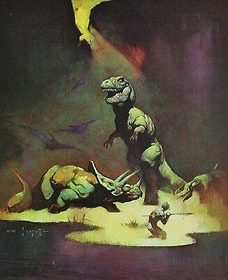 "1980 Full Color Plate /""T-Rex/"" by Frank Frazetta Fantastic GGA"