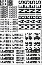 Marines Decals 1/25 1/35 1/32 1/48 1/72 1/144  Non specific Marine