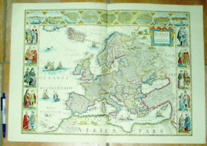 Vorsichtig Europa 12 Stück Alte Landkarten Illustriert Reproduktionen Europe Maps Aromatischer Geschmack Bilder & Drucke