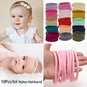 10pcs Nylon Elastic Headband Baby Girl Women Child Kid Hairband Accessories Hair Accessories