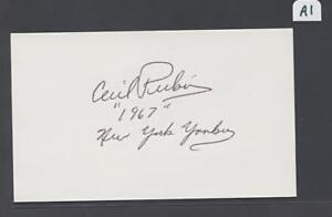 Cecil-Perkins-Signed-3X5-Index-Card-Yankees-1967-Debut-Flat-Rate-Ship-A1