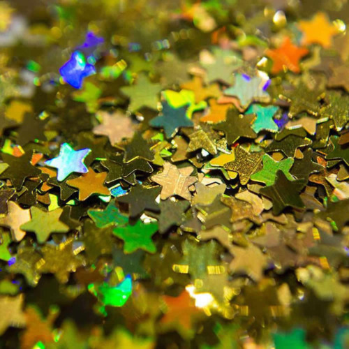SFXC® Golden Star Holographic Chunky Glitter
