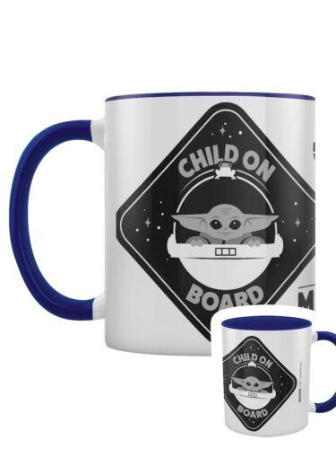 Star Wars Kaffeebecher The Mandalorian Child On Board Innen blau gefärbt weiß
