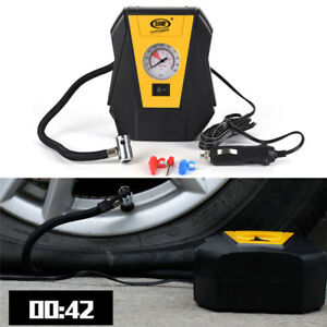 Portable Tire Inflator Pump12v Car Air Compressor Pump Led Light
