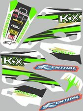 Graphics for 1999-2002 Kawasaki KX 125 KX 250 KX125 KX250 Decal fender shrouds