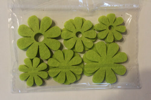 5 cm tablillas centro de mesa 1 bolsas de 12 unidades flores fieltro verde claro d 5//4 3//3