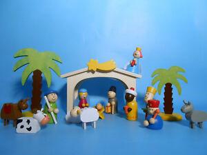 Kinder Weihnachtskrippe.Spielkrippe Aus Holz Kinder Krippe Krippenstall