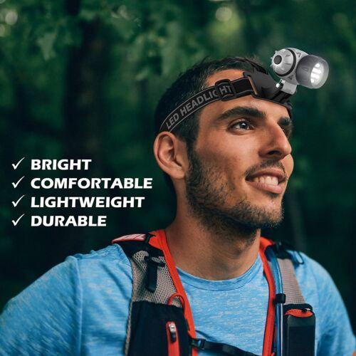 Head Torch 12 Led Headlamp Headlight Light Cree Lamp Camping Car Job