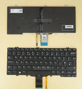 NEW Dell Latitude 7280//7290//7380//7389//7390 US ENGLISH Backlit Keyboard 0NPN8