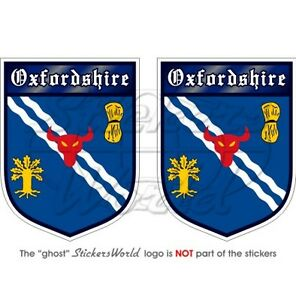 OXFORDSHIRE-Oxford-English-Oxonian-Shield-Bumper-Stickers-Decals-75mm-3-034-x2