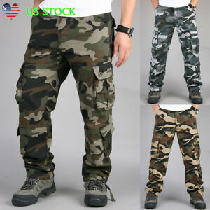 Men-039-s-Military-Army-Combat-Trousers-Tactical-Work-Camouflage-Cargo-Pockets-Pants