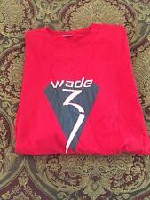Converse NBA Miami Heat Dwayne Wade #3 Logo Red Cotton T-Shirt Size XXL NWOT