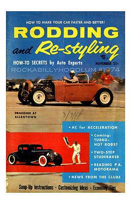Automobilia Neu Hot Rod Plakat 11x17 Rodding Und Re-styling Für Schleifen Drag Racing Accessoires & Fanartikel