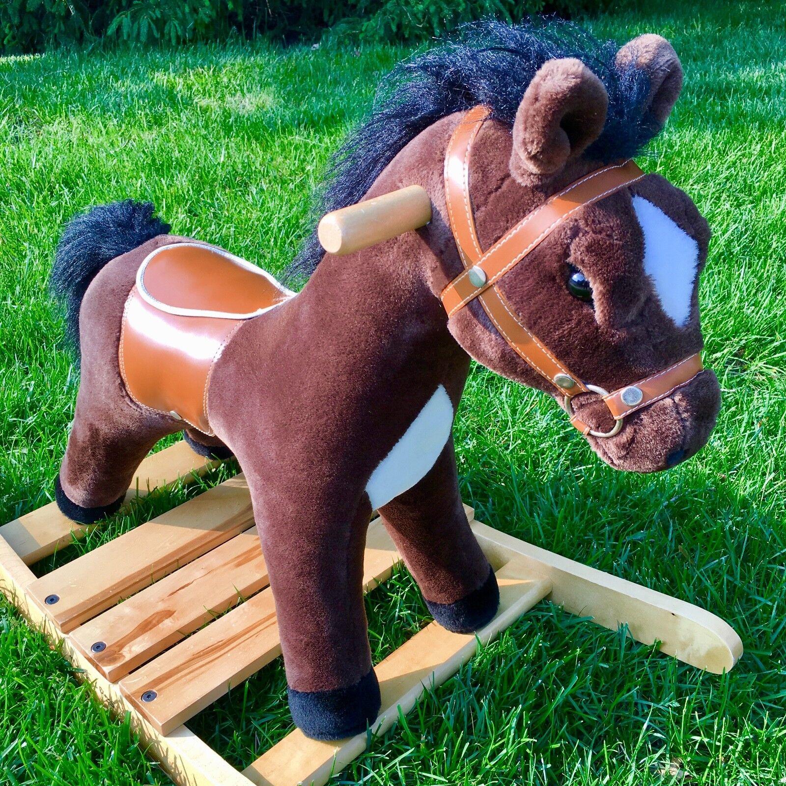 Baby Toddler Toys Melissa Doug 2137 Plush Rocking Horse