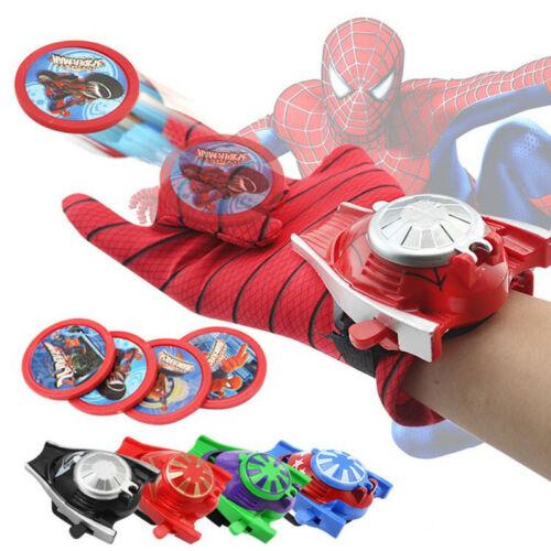 Kids Spiderman Ironman Batman Launcher Gloves Children Action Figure Toys boys