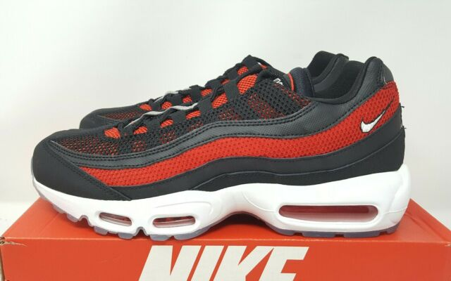 Nike Air Max 95 Essential Bred Mens 749766 039 Black Red Running Shoes Size 11