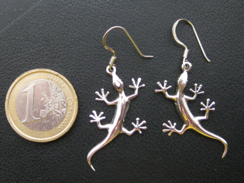 Gecko Edelstahl Ohrringe Paar Tiermotiv sehr schön OR 400