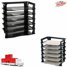 Beautiful 6 Pack Stackable Letter Tray Desk Office File Document Paper Holder  Organizer