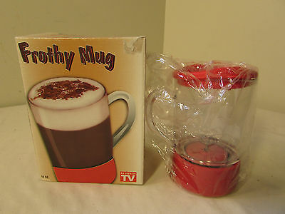FROTHY MUG Foamy Beverage Frother Cappucino Latte Coffee Maker MIB Unused