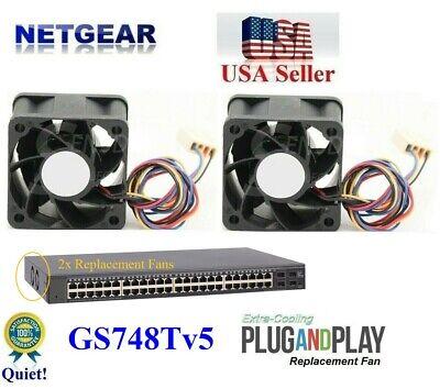 Quiet version 1x replacement fan for NETGEAR ProSAFE S3300-28X GS728TX
