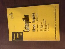Cat Caterpillar Diesel Engine Servicemens Reference Book Manual 6 Cyl 4 12