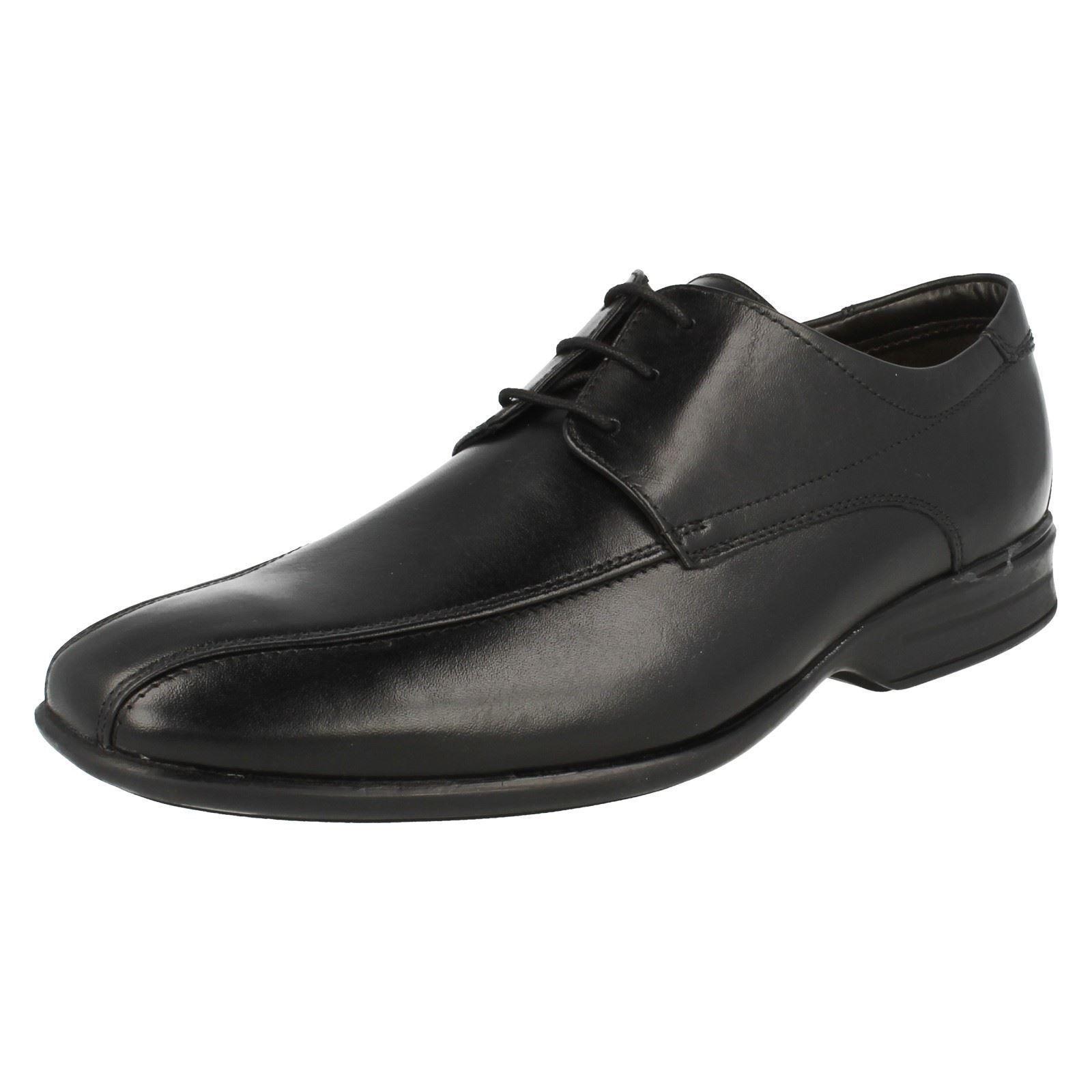 Herren Clarks gadwell über schwarz Leder Intelligente Spitzen sich Schuhe Norm
