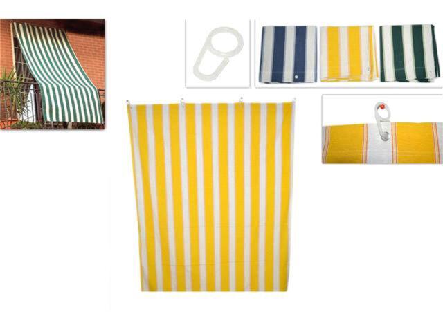Tenda da sole con anelli in tessuto per balcone 145x290 cm vari colori