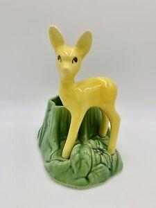 Shawnee Pottery USA Mid Century Deer / Fawn Planter Vase Vintage Figurine