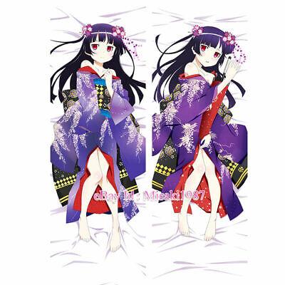 "59/"" Anime Dakimakura Oreimo ore no imouto Gokou Ruri Kuroneko Body Pillow Case A"