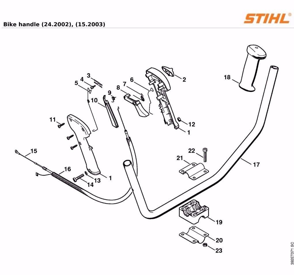 Stihl Stihl Stihl FS80 FS85 Gaskabel Passend für Kuh Horn Griff Modell nur 4137 180 1100 e8ea96