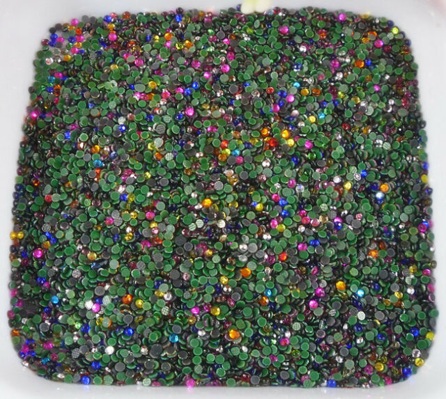 ss6 Hotfix lot color Multiple facets glass Crystal Flat Back 2mm Rhinestones