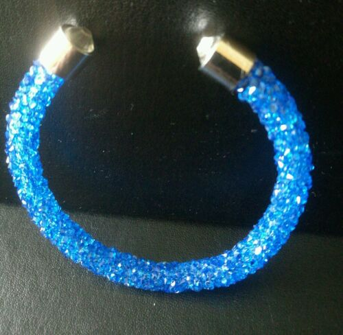 Crystal bracelet royal blue STARDUST wedding prom bride birthday Christmas