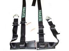 "Takata DRIFT II 4 Point Snap-On 2"" Racing Seat Belt Harness (Black)"